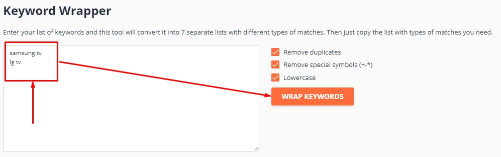 Keyword Wrapper